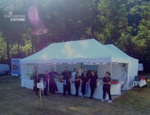 Einsatzbereit: Streitenberger Catering Team